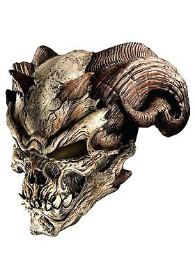 Halloween Cave Demon Mask Skull Skeleton Latex Scary Adult Costume Accessory