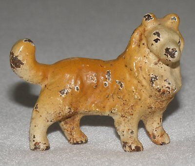 Rare Vintage Lead Collie Figurine