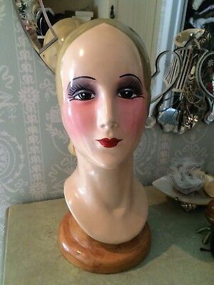Vintage Katherine's Collection  Mannequin Head Hat Display Millinery