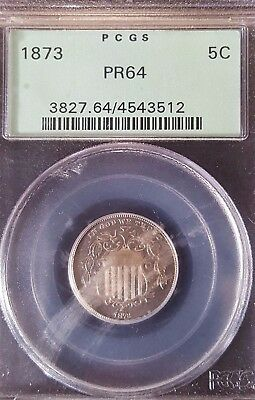 1873 Shield Nickel PCGS PR64 Proof 5C