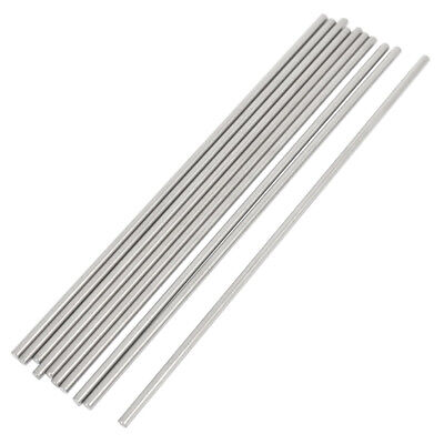 SS 10 Pcs RC Airplane Model Part Stainless Steel Round Rods 3mm x 150mm