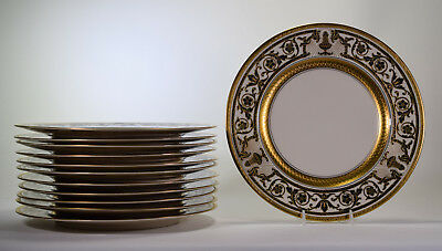 12 H&C Selb Bavaria Heinrich & Co Dinner Plates