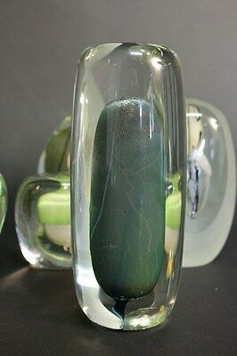 Isabelle Monod RARE volume en verre soufflé sculpture french studio glass 1980