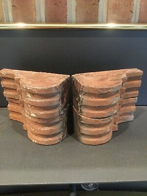 Antique TWO Pairs of  Wood Corbels Bookend Shabby Cottage Chic