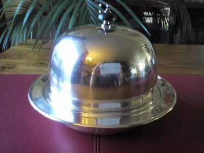 A Vintage Silver Plated three part Muffin Warmer