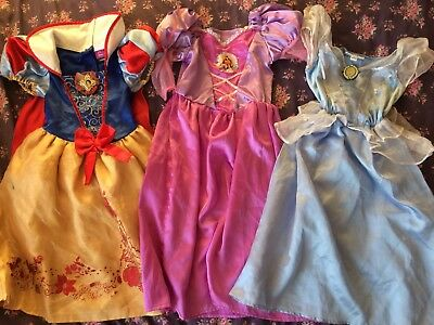 Disney Princess Dressing Up Costumes Fancy Dress Rapunzel Snow White Cinderella
