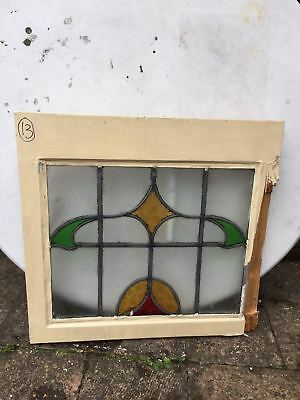 1930's Vintage Leaded Stained Glass Window in amazing condition with no cracks