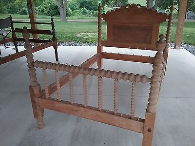 Antique Wood Rope Bed