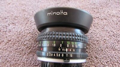 Vintage Factory Minolta Md Rokkor-Pf 135Mm 1:2 F=50Mm Camera Lens With Hood