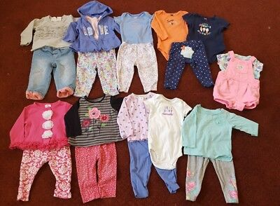 HUGE LOT 35 ITEMS 6-9 month girl clothes