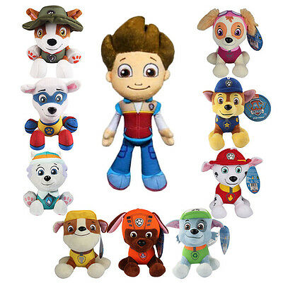 Paw Patrol Pup Dog Action Figures Stuffed Soft Plush Doll Kids Baby Boy Girl Toy