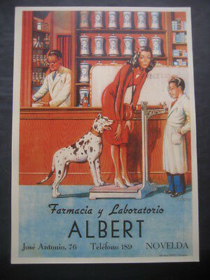 Cartel FARMACIA Y LABORATORIO ALBERT. NOVELDA ALICANTE