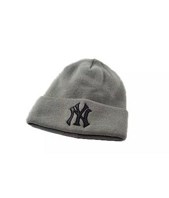Unisex Ny Yankees Winter Warm Knitted Beanie In Grey