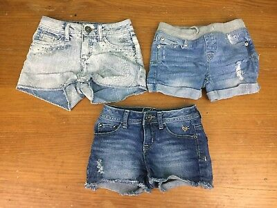 Lot of 3 Girl's Justice Jean Shorts - Size 10 S