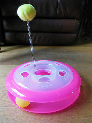 ANCOL PLACTICAT PLASTIC PLAYGROUND, Pom-Pom & Ball Track Chase Activity Toy
