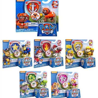 Paw Patrol Dog Doll Figures Backpack Projectile+Badge Set Kids Baby Boy Girl Toy