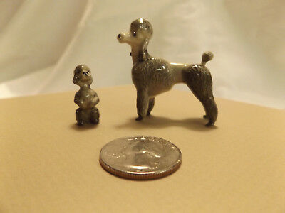 Bone China Miniature Dog & Puppy Figures POODLE ceramic figurine