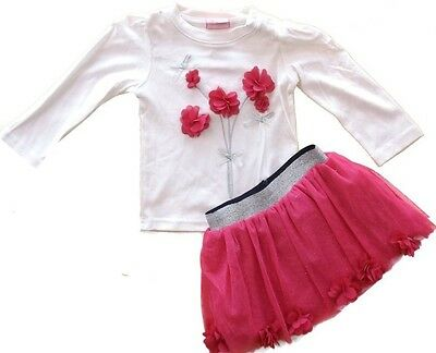 Baby girls pink tutu skirt and top outfit set 6-12m 12-18m 18-24m great gift new