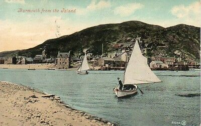 Vintage Postcard Barmouth From The Island 1907 (L)