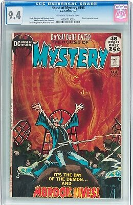 House of Mystery #198 (DC, 1972) CGC NM 9.4 Off-white to white pages....