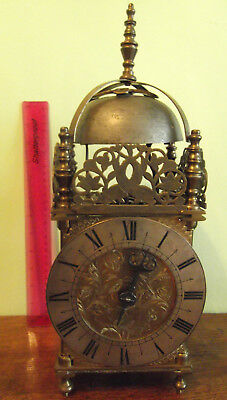 Large brass Lantern clock , requires weights & pendulum