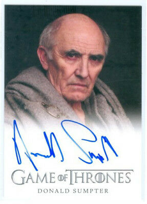 """Donald Sumpter """"maester Luwin Limited Autograph Card"""" Game Of Thrones Season 4"""