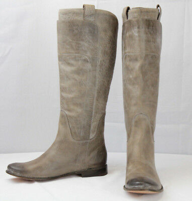 FRYE Women's Paige Tall Riding Boot, Grey Burnished Leather, 9 B US