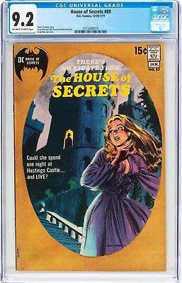 House of Secrets #89 (DC, 1971) CGC NM- 9.2 Off-white to white pages....