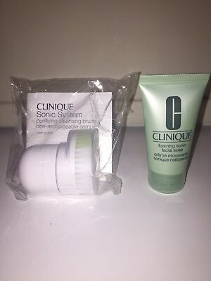 Clinique Sonic System Purifying Cleansing Brush And Foaming Sonic Facial Soap