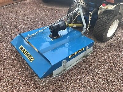 4ft Fleming Topper Mower Compact Tractor Small Holding Landscaping Garden