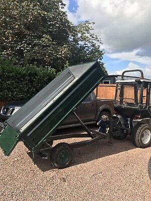 Compact Tractor Tipping Trailer  Small Holding Landscaping Garden