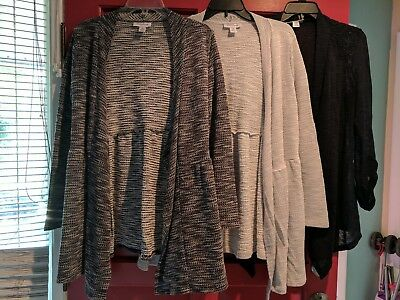 Motherhood Maternity Open Sweaters Lot of 3 *Medium Large M L* Gray, Navy*
