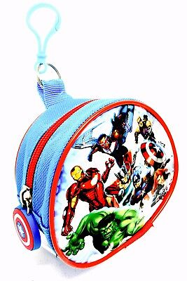 Marvel Avengers Fabric Coin Pouch With Bag & Keyring Attachment Brand New …