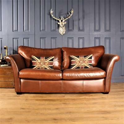 Leather 3 Seater Sofa Multiyork Cigar club Suite tan Chair Vintage Chesterfield