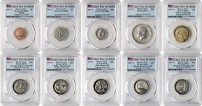 2017-S 10 Coin Set Denver ANA Enhanced Unc PCGS SP70 First Day of Issue