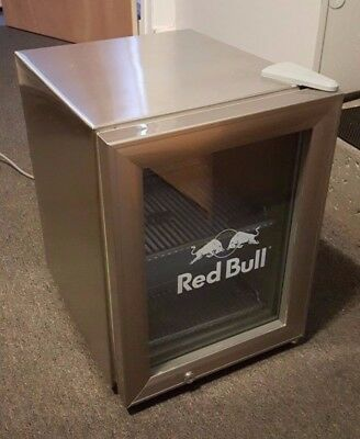 Silver Red Bull Fridge