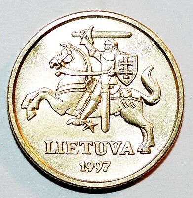 COIN Lithuania 20 Centu 1997 KM# 107 UNC uncirculated world foreign rare Horse