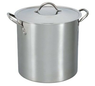 Mainstays 12-Qt Stainless Steel Stock Pot with Metal Lid