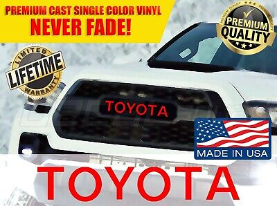 TOYOTA TACOMA TRD PRO Grille Logo Decal Grill Letter Sticker 2016 2017 2018 2019
