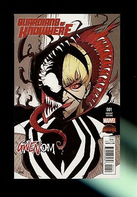 GUARDIANS OF KNOWHERE #1 (Marvel, 2015) 1st app. GWENOM~Variant cover~NM 9.4