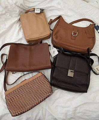 Lot of 5 Shoulder Crossbody Handbags Relic wilsons leather