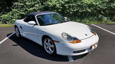 2002 Porsche Boxster Base Convertible 2-Door 986 BOXSTER; BLUE on WHITE; LOW MILES; $34,000 of WORK with RECEIPTS; CLEAN!!!