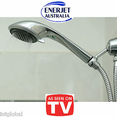 Hand Held Shower Head, Just 5.3 Litres per Minute !! 5 Function, CSIRO Tested