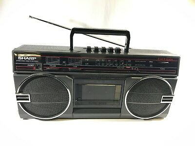 Vintage Retro Sharp GF-3939A(D) Stereo Radio Cassette Recorder Boombox
