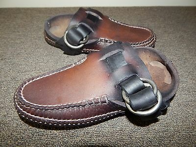 Coombs 1830 Brown Leather Handsewn Ring Boot Moccasin Shoes Women's Size 6