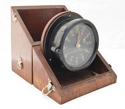 Chelsea US Army Message Center M2 clock in original case working