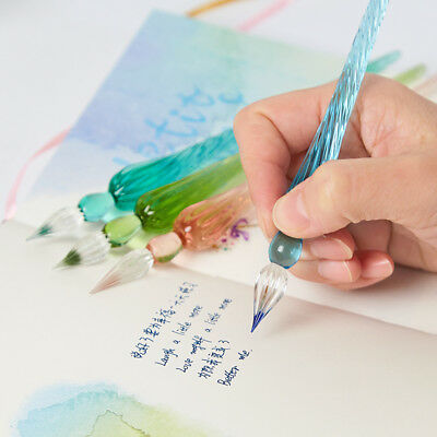 Creative Glass Signature Pen Dip Sign Pen Dipping Elegant Crystal Gift With Box