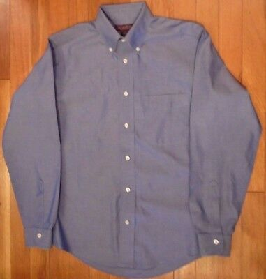NWT Brooks Brothers High-End Blue, Button Down Collar Size 16 100% Cotton (Y19)