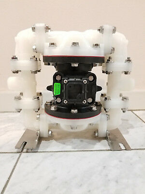 SANDPIPER S05B2K2TPNS000 Diaphragm Pump, Air Operated, PVDF, 100 psi USED