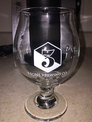 3 Sons Brewing Co. Tulip Beer Glass - Free Shipping
